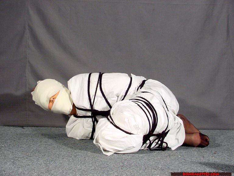That interrupt Female mummy bondage right!