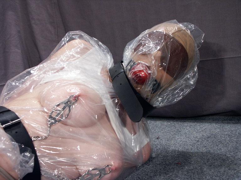 Plastic wrap bondage tgp